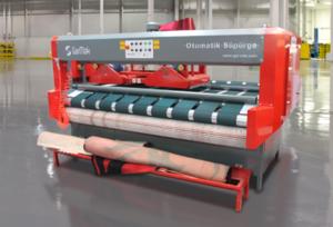 Otomatik Süpürge Halı Hav Alma ve Paketleme Makinesi